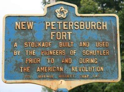 New Petersburgh Fort Marker image. Click for full size.