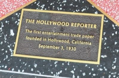 The Hollywood Reporter Marker image. Click for full size.
