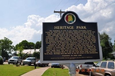 Heritage Park Marker Side 1 image. Click for full size.