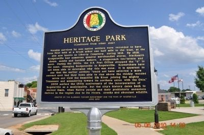 Heritage Park Marker side 2 image. Click for full size.