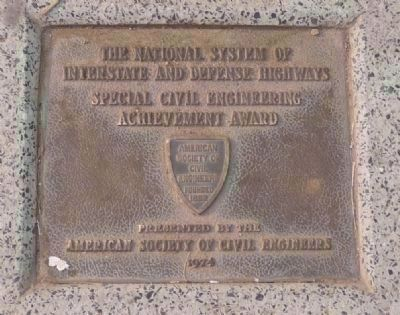 American Society of Civil Engineers (founded 1852) Achievement Award plaque image. Click for full size.
