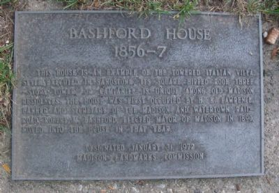 Bashford House Marker Photo, Click for full size