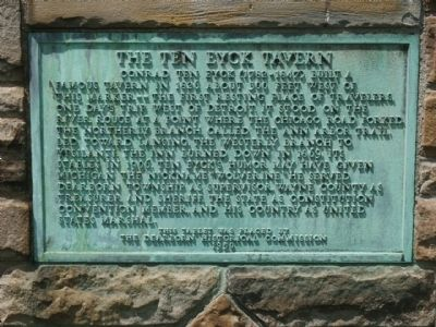 The Ten Eyck Tavern Marker image. Click for full size.