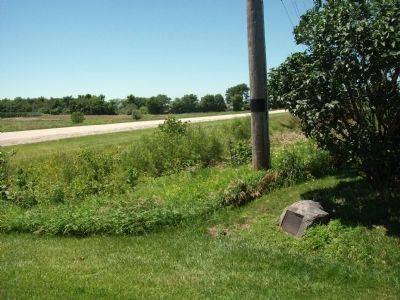 Looking West - - Potawatomi Trail of Death Marker image. Click for full size.