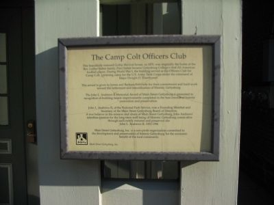 The Camp Colt Officers Club Marker image. Click for full size.