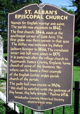 St. Alban's Episcopal Church Marker image. Click for full size.