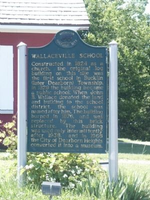 Wallaceville School Marker image. Click for full size.