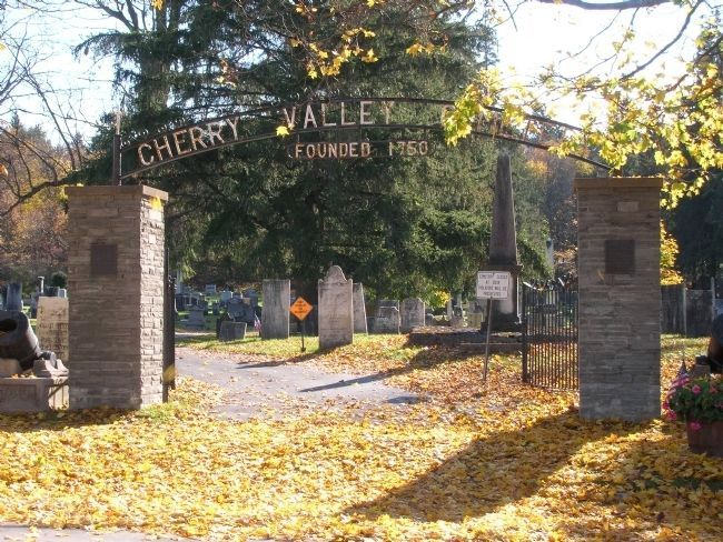 <center>Cherry Valley Cemetery<br> Founded 1750</center> Photo, Click for full size