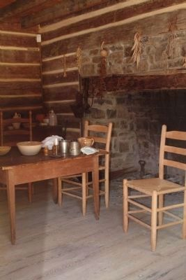 Interior of the Smaller Log House image. Click for full size.