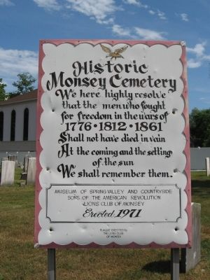 Historic Monsey Cemetery Marker image. Click for full size.