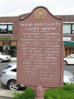 Rockland County Court House Marker Photo, Click for full size