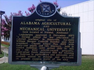 Original Site of Alabama A&M University Marker image. Click for full size.