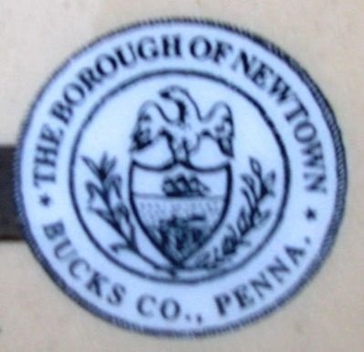 Newtown Borough Seal on Marker image. Click for full size.