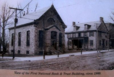 Photo on First National Bank Marker image. Click for full size.