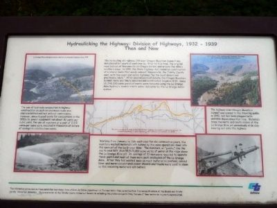 Hydraulicking the Highway: Division of Highways, 1932 - 1939, Then and Now image. Click for full size.