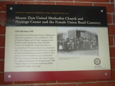 Mount Zion United Methodist Church and Heritage Center, and the Female Union Band Cemetery Marker image. Click for full size.