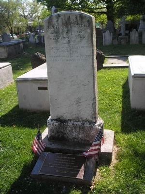 Marker in Princeton Cemetery image. Click for full size.