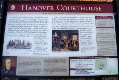 Hanover Courthouse Marker image. Click for full size.