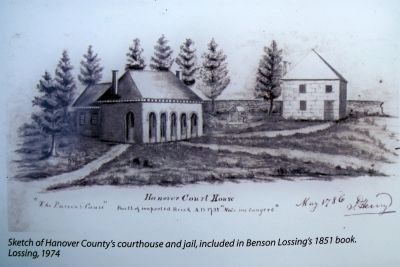 Sketch of Hanover County's courthouse and jail image. Click for full size.