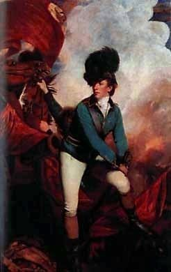 Lt. Col. Sir Banastre Tarleton, 1st Baron<br>August 21, 1754 &#8211; January 16, 1833 image. Click for full size.