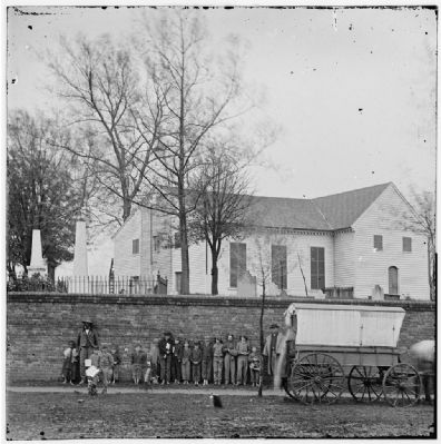 Richmond, Va. St. John's Church and graveyard from street Photo, Click for full size