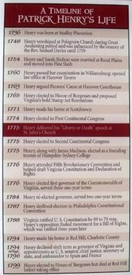 A Timeline of Patrick Henry's Life Photo, Click for full size