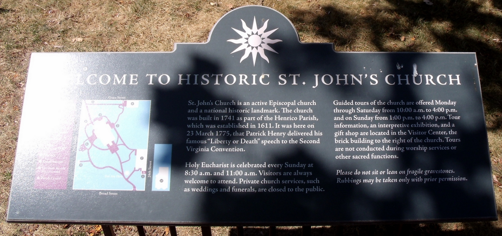 Welcome to St. John�s Church Marker