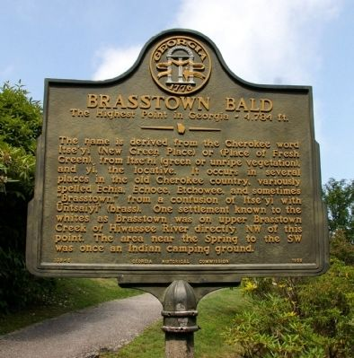 Brasstown Bald Marker Photo, Click for full size