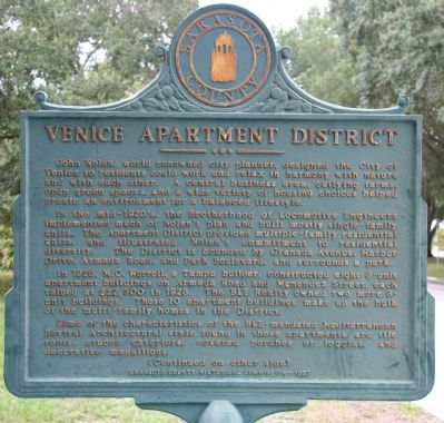 Venice Apartment District Marker image. Click for full size.