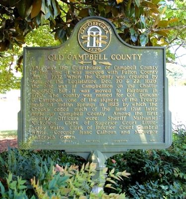 Old Campbell County Marker image. Click for full size.