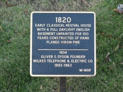 Dyson House Marker image. Click for full size.