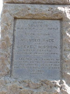 Wounded Knee and Drexel Mission Marker Photo, Click for full size