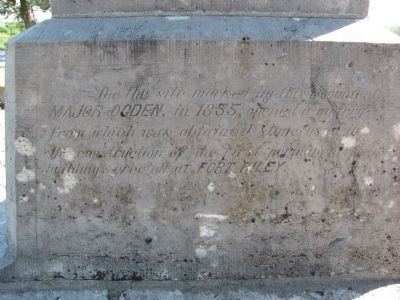 Ogden Monument Marker Photo, Click for full size