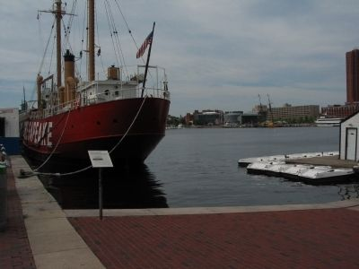 Lightship Chesapeake and Marker Photo, Click for full size