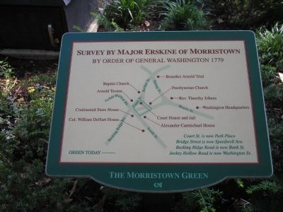 Survey by Major Erskine of Morristown Marker image. Click for full size.