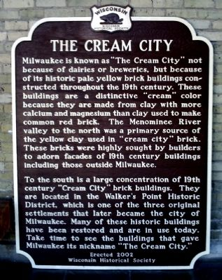 The Cream City Marker image. Click for full size.