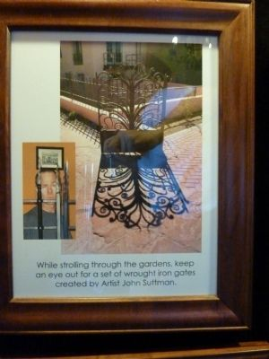 Photo of Note from Lobby Display Regarding Wought Iron Artist John Suttman image. Click for full size.