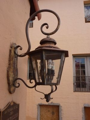 La Posada Hotel Original Wrought Iron Vestibule Lamp image. Click for full size.