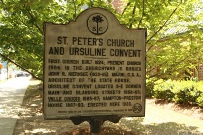St. Peter's Church and Ursuline Convent Marker image. Click for full size.