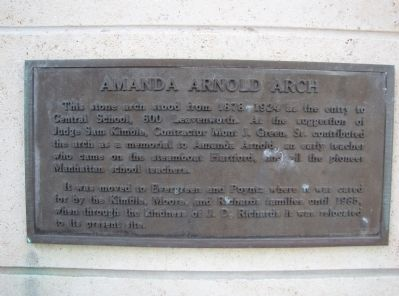 Amanda Arnold Arch Marker image. Click for full size.