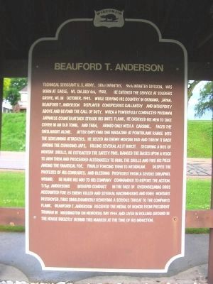 Beauford T. Anderson Marker image. Click for full size.