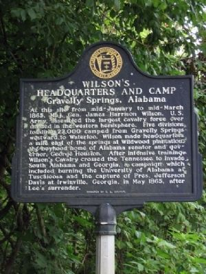 Wilson's Headquarters and Camp Marker image. Click for full size.