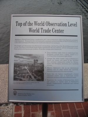 Top of the World Observation Level World Trade Center Marker image. Click for full size.