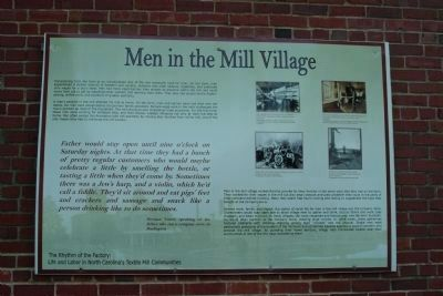 Men in the Mill Village Marker image. Click for full size.