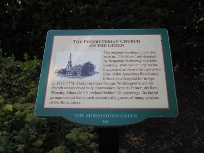 The Presbyterian Church on the Green Marker image. Click for full size.