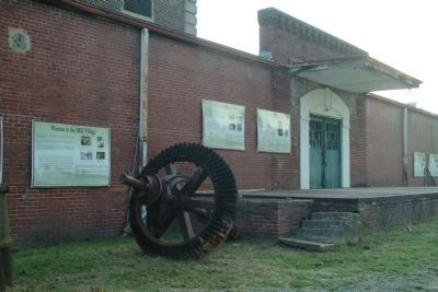 Rhythm of the Factory Series of Markers - on the Glencoe Mill Building Photo, Click for full size