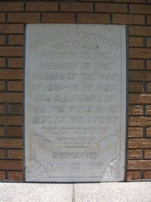 Soldiers Monument Marker Photo, Click for full size