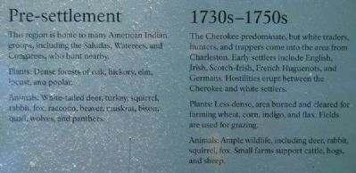 Environmental Change From Forest to Park Marker -<br>Pre-settlement/1730s-1750s image. Click for full size.