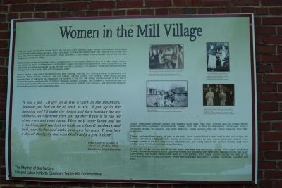 Women in the Mill Village Marker image. Click for full size.