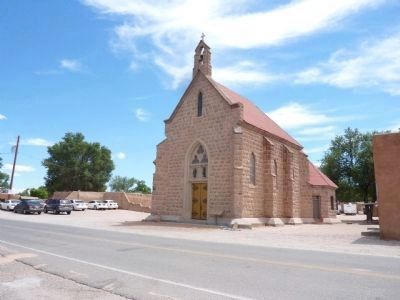 The Post-1680 Catholic Church/Shrine of San Juan Pueblo image. Click for full size.